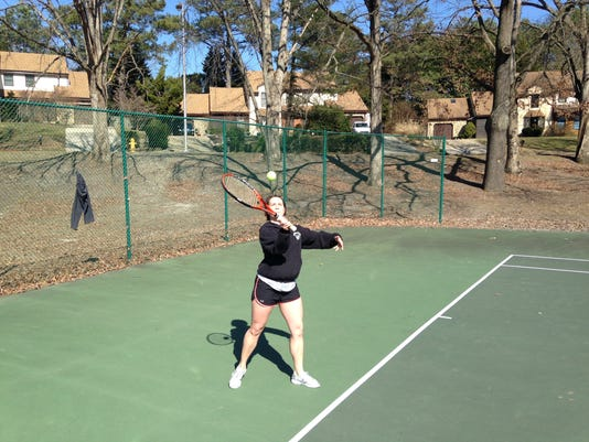 tennis playing park