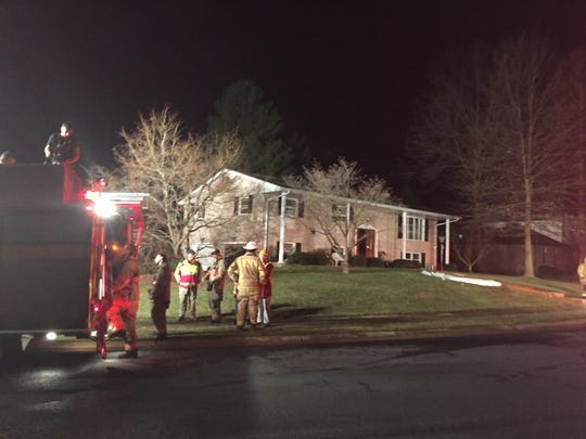 Firefighters respond to a scene of a chimney fire on the  2500 block of Chestnut Road.