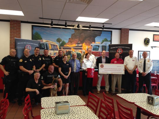 Members of the North Port Police Department, Cape Coral Fire Department were presented safety grands by the Firehouse Subs Public Safety Foundation on Wednesday.