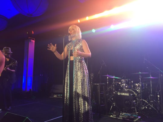 Natasha Bedingfield performs at the Desert Smash charity tennis tournament concert at Westin Mission Hills in 2016.