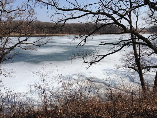 Signalness Lake in Glacial Lakes State Park was opening