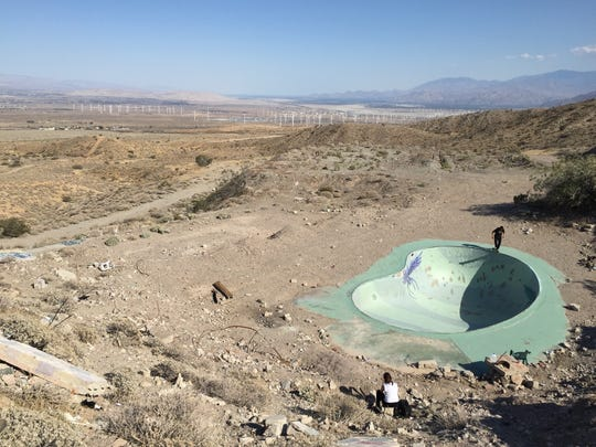The Nude Bowl, a former swimming pool at a nudist camp in Desert Hot Springs, was a popular gathering spot for generator parties.