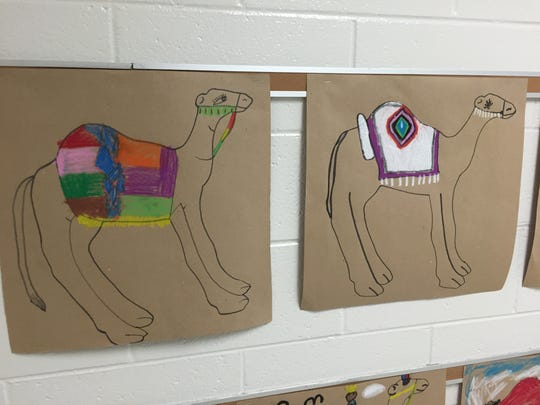 The Children's Art Network in Staunton periodically comes to Craigsville Elementary School to do art projects that tie into history lessons, such as the agent Egyptians.
