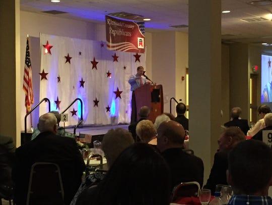 U.S. Rep. Jim Jordan speaks at the  Lincoln Day Dinner