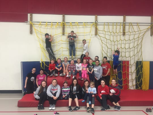 Students in grades pre-K through 2 participate in Kids Night Out, which is run by members of the Chenango Valley varsity softball teams on Thursdays in February and March.