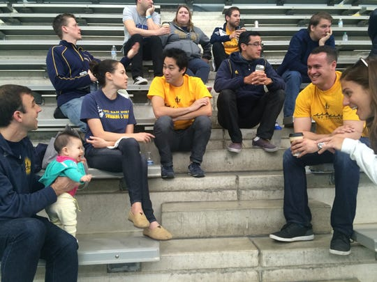 A group of 22 former swimmers for the University of California-San Diego traveled to Indianapolis this past week to watch the school's swimmers compete in the NCAA Division II National Swimming and Diving Championships.