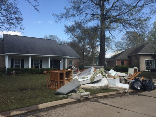 Residents on Tilford Circle in Monroe were busy Sunday
