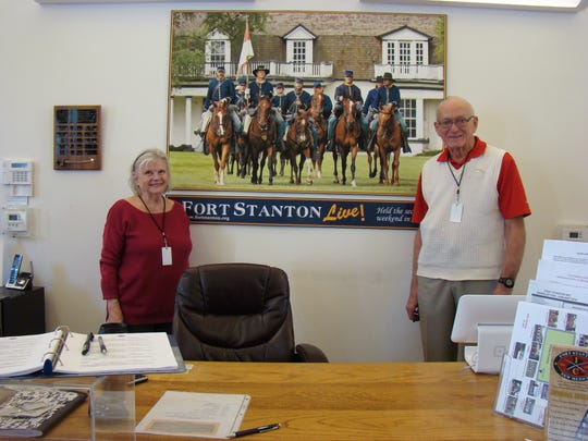 Volunteers Amber and Norman Ackerman manned the Fort Stanton Museum Store and are members of Fort Stanton Inc.