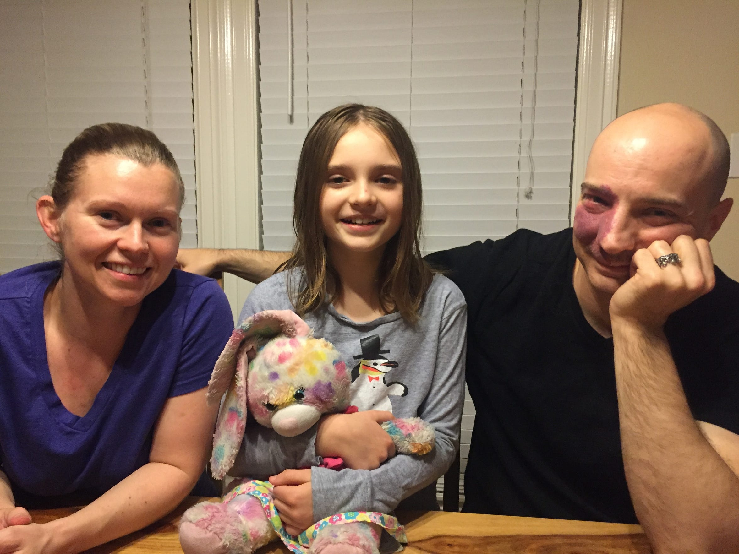 Johanna and Bryan Cole with their daughter Cassidy