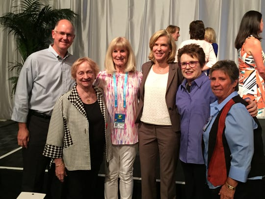 The WTA players and friends reunion held Saturday,