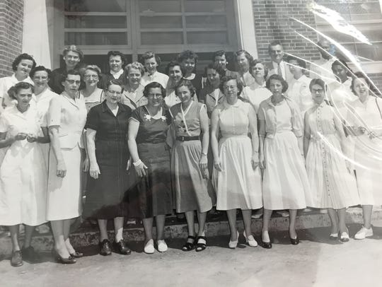 The first faculty of Ware Elementary School —then