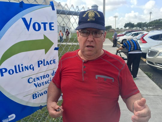 Jose Molina, 65, talks about his primary vote outside
