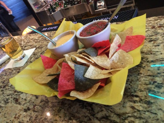 An order of queso and salsa ($8) at ReUnion Brewery.