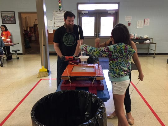 STEM Academy at Wenonah this year is the brainchild of teacher Jon Wills, who created a similar program while teaching in Charlotte, N.C. Students meet twice a week to learn about STEM.