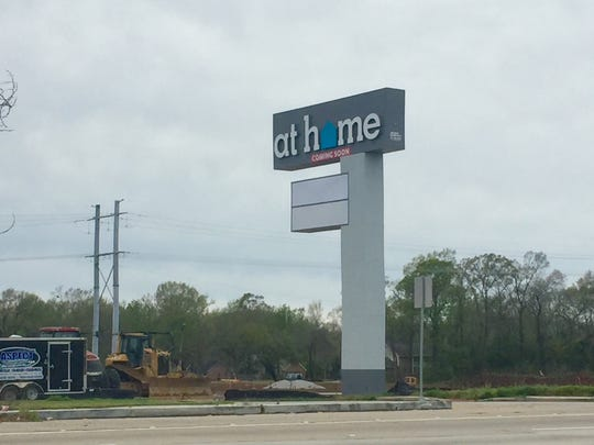 Next to Academy on Ambassador Caffery Parkway is a construction site for At Home