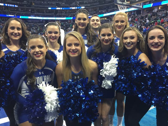 Seton Hall cheerleaders were ready for the Big Dance.