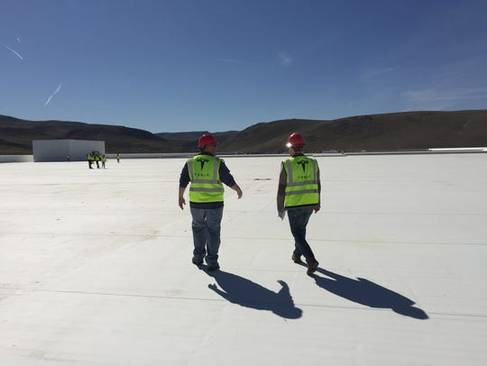 The Tesla gigafactory roof is massive. It will be outfitted