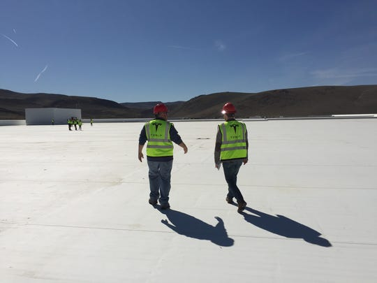 The Tesla gigafactory roof is massive. It will be outfitted with solar panels.