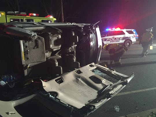 Vineland firefighters freed a driver who was trapped