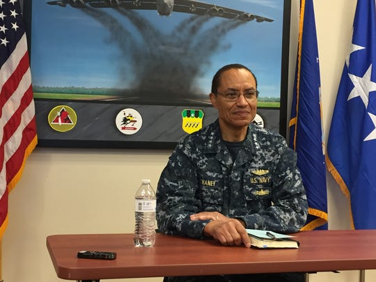 Admiral Cecil D. Haney presented the airmen with the