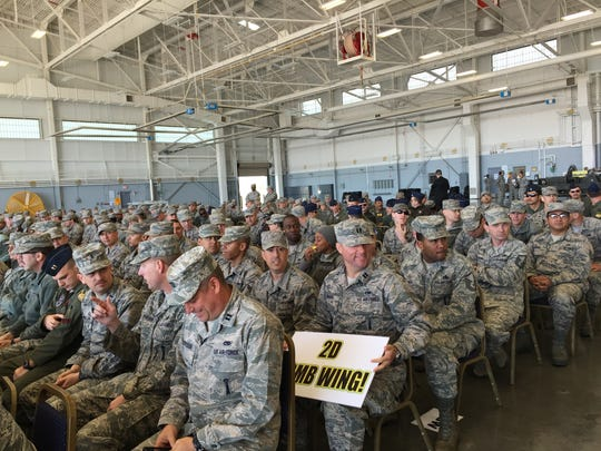Barksdale Air Force Base airmen were presented with