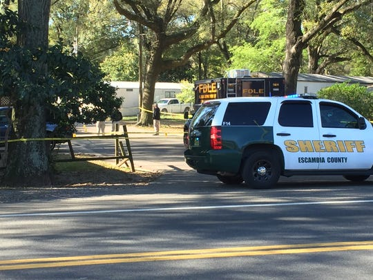 Escambia County Sheriff's deputies shot two home invasion suspects that allegedly charged at officers in a vehicle early Monday morning.