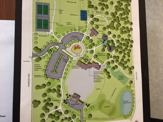 Erb Park master plan, released on March 21, 2016.