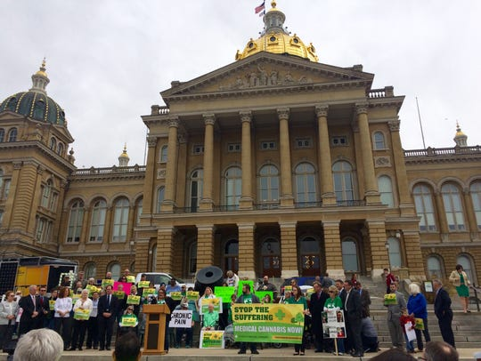 Iowans 4 Medical Cannabis held a rally outside of the