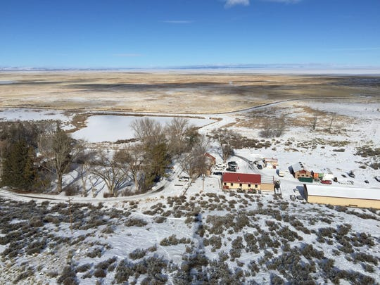 The Malheur National Wildlife Refuge near Burns is seen from atop an old fire lookout on Jan. 15, 2016.