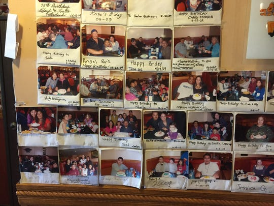 Party picture wall at AA Buffet, South Salinas