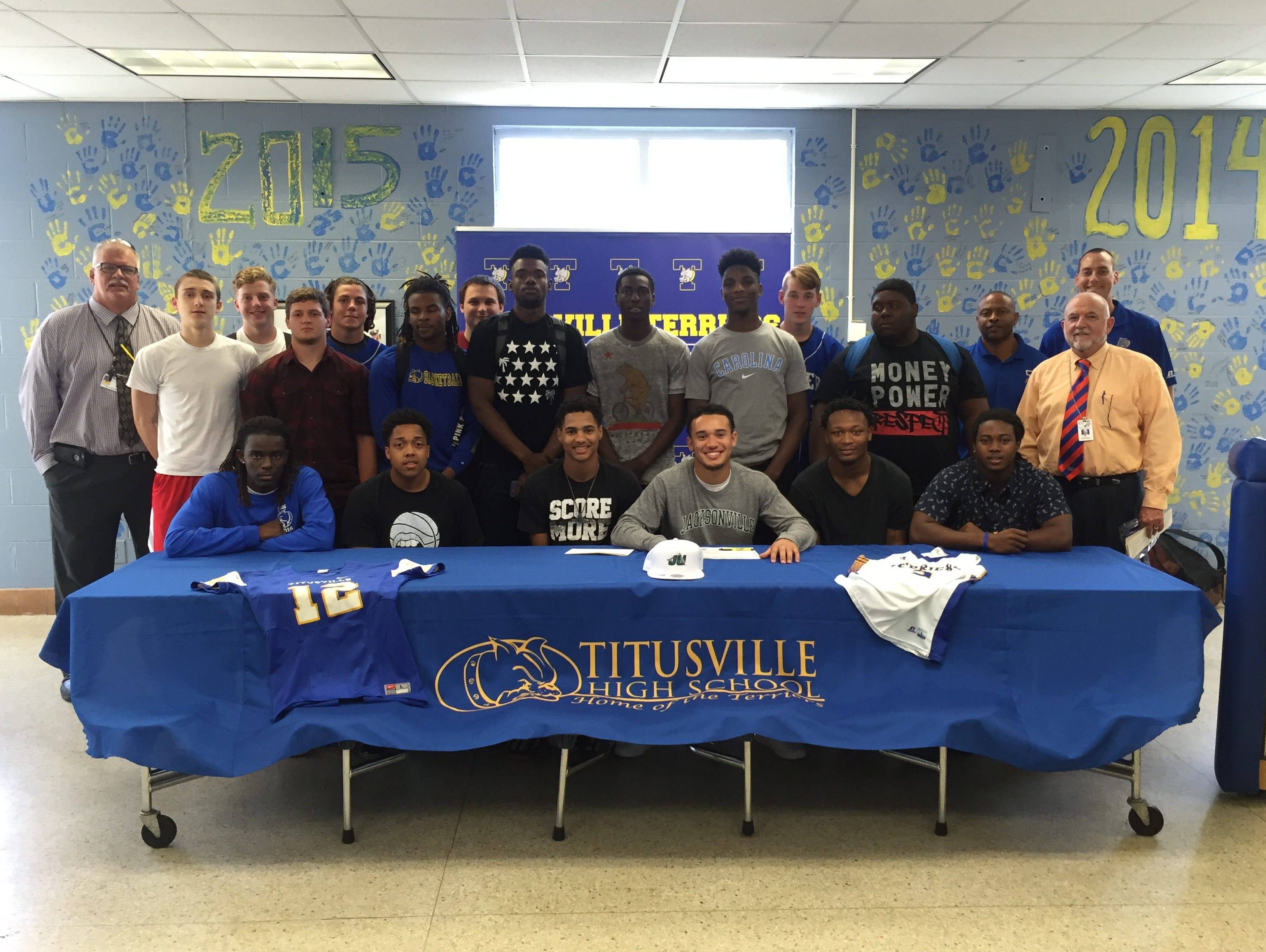 Titusville's Tommy Mack signed to play football with Jacksonville University.