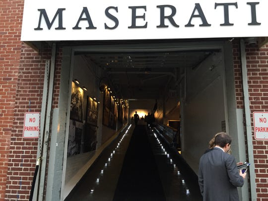 Entrance to Maserati event where the Levante SUV made its North American debut on Tuesday, March 23.