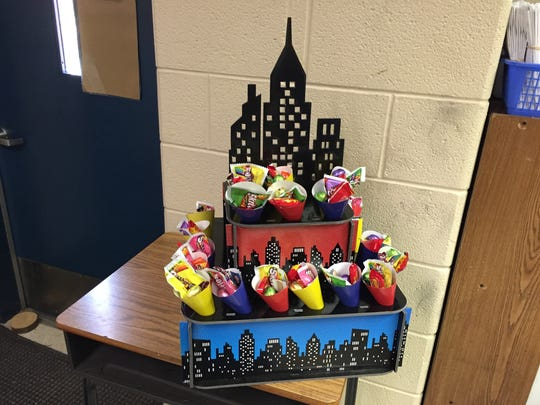 """Each six weeks a """"super city"""" is given to the class in grades kindergarten through second and third through fifth who has the highest average attendance for the grading period."""