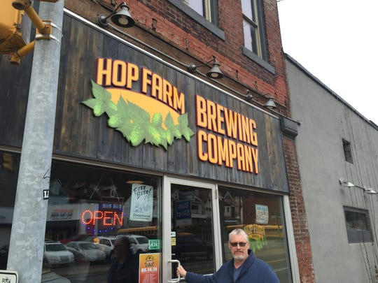 Located just down the street from Roundabout Brewing, Lawrenceville's Hop Farm Brewing uses locally grown ingredients to make most of its beer.