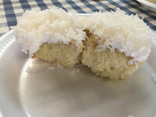Coconut cake might taste like grandma's at Slick Pig BBQ.