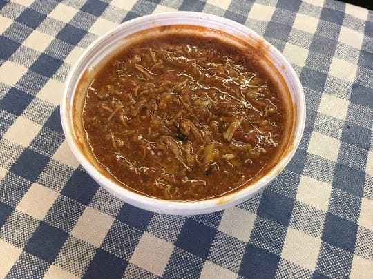 Brunswick stew is a favorite menu item at Slick Pig BBQ.