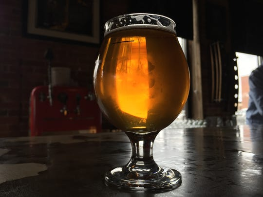 Voodoo Brewing has two taprooms in Pennsylvania. The main brewery is in Meadville and the satellite location is in Homestead. This is a pour of Voodoo's super juicy Vandelay Industries double IPA.