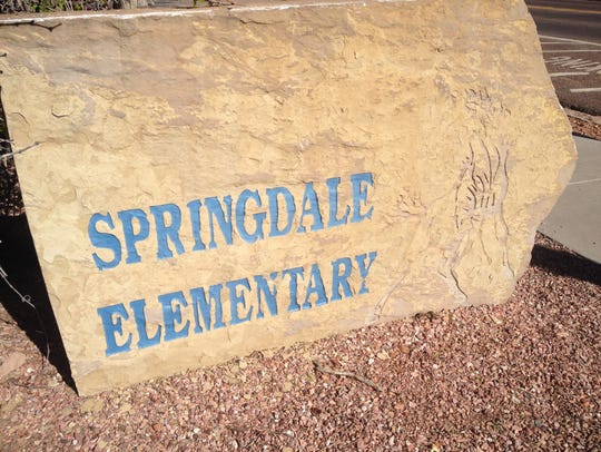 Springdale Elementary, located in the Zion Canyon corridor.