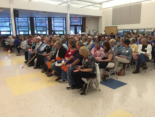 Grandparents and parents filled the cafeteria on Friday