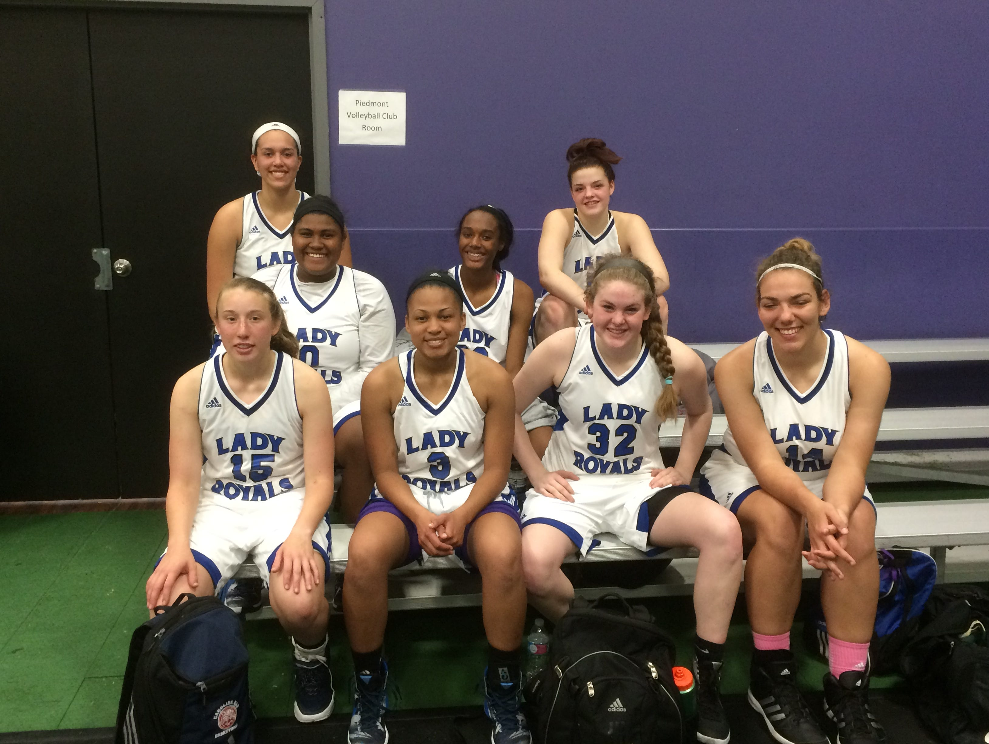 The WNC Lady Royals 11th grade basketball team.
