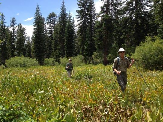 ABOVE: Glen Van Peski, right, and adventurer Justin