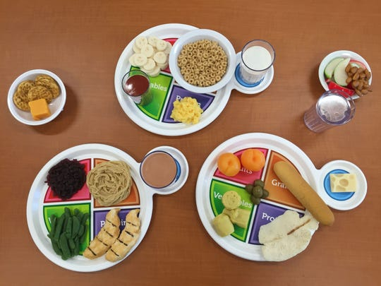 The USDA's My Plate dietary guidelines call for balanced