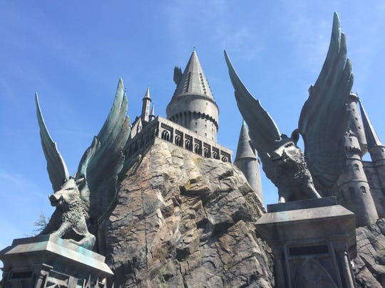 The Hogwarts School of Witchcraft and Wizardry looms