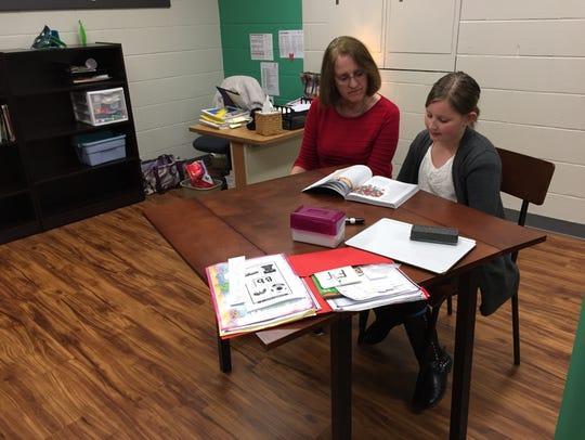 In-house tutor and former Stump Elementary School teacher,