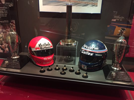 Al Unser's Indy 500 rings and other memorabilia.