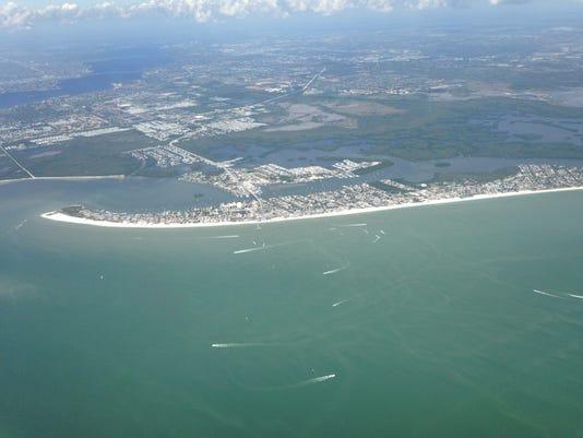 Aerial photos of Southwest Florida coastal waters