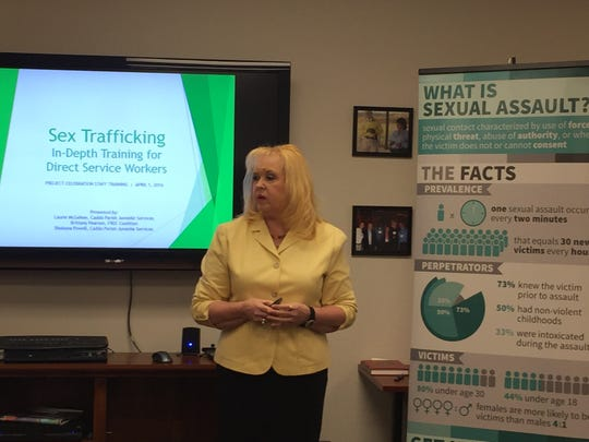 Laurie McGehee of Caddo Parish Juvenile Services spoke