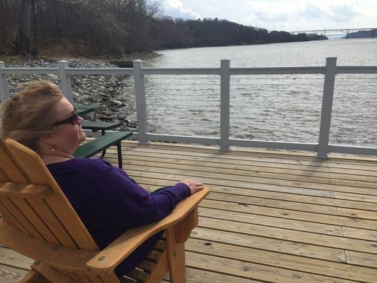 Eileen DuBois of Hyde Park enjoys the observation deck