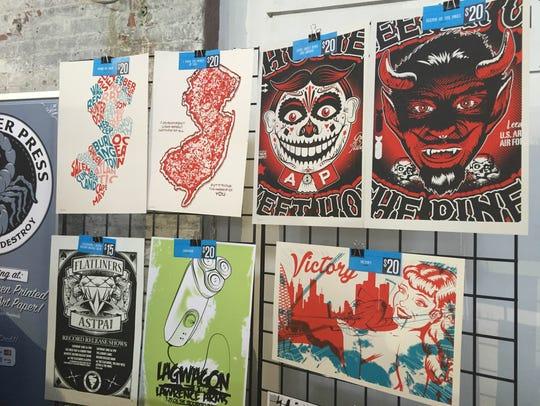 Chris Lands' work at the Trenton Punk Rock Flea Market.
