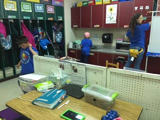 Stuarts Draft Elementary School is one of two county schools to have a class just for students with autism. There are nine students, a full-time teacher and four aides.